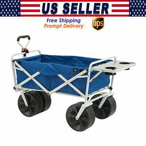 Mac Sports Heavy Duty Folding Terrain Utility Beach Wagon Cart - U.S. Seller -