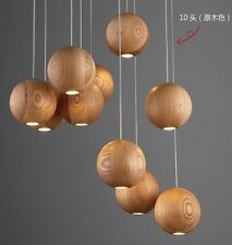 Solid wood chandelier modern lamp Chandelier wooden minimalist 10 heads