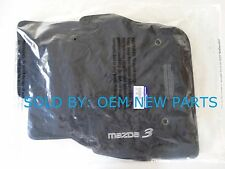 OEM 2010-2013 MAZDA 3 BLACK CARPET FLOOR MATS MAT SET 0000-8B-L65