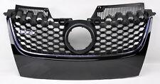 VW Jetta & GTI MK5 06-09 Black w/ Chrome Honeycomb Hex Mesh Front Grill