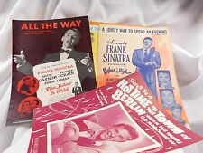 1943-57 Early Excellent Frank Sinatra Sheet Music Lot, Step Lively, Higher & Hig