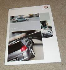 Vauxhall Signum Brochure 2004 Elegance Design Elite 3.2 V6 2.0T 2.2 DTI 3.0 CDTI