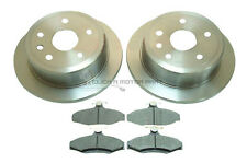 DAEWOO LEGANZA 1997-2003 ALL MODELS REAR 2 BRAKE DISCS AND PADS SET NEW