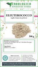 Eleuterococco radice polvere 500 grammi, tonico, aumenta resistenza