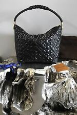 NWT LOUIS VUITTON 2017 TRIANGLE SOFTY BLACK QUILTED LEATHER MONOGRAM BAG M54770