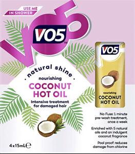 VO5 Nourishing Coconut Hot Oil 4x15ml Intensive Nourishment For Damaged Hair