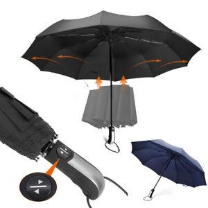 Regenschirm Taschenschirm Sturmfest Auf-Zu-Automatik Schirm für Damen Herren DE