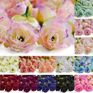 50pcs Small Sakura Artificial Flowers For Wedding Party Home Decoraction 40mm