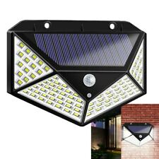 Solar Powered PIR Motion Sensor Light Outdoor Garden Security Wall Light 100 LED