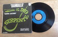 SP 45 trs BOF Il dio serpente Augusto Martelli Djamballa 1971 VG+