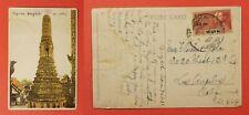 1932 THAILAND BANGKOK POSTCARD TO USA