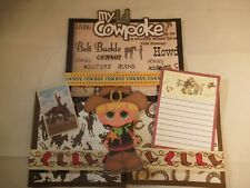 MY LIL COWPOKE  3D PAPER PIECING SCRAPBOOK PAGE MAT SET