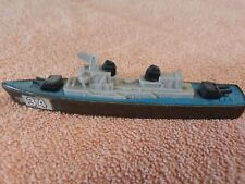 Vintage Collectable Toy Tootsietoy Diecast Destroyer Ship on Wheels