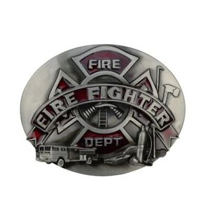 Metal Firefighter FD Logo Belt Buckle Men's/Women Fashion Fire Dept Fireman Gift