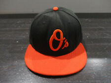 New Era Baltimore Orioles Hat Cap Fitted 7 3/8 Black Orange MLB Baseball Mens