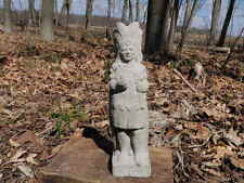 "Cement 10 1/2"" Tall Chief Brave With Hatchet Garden Art Statue Concrete"