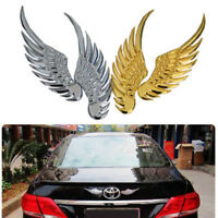 1 Pair Eagle Wings Car Sticker Gold/Silver Color Car Metal Wings Sticker Decals