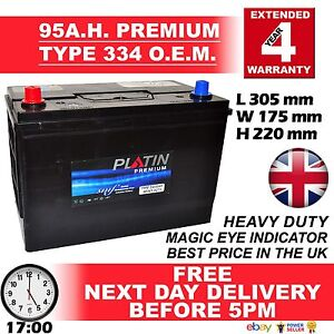 12V Car Battery Heavy Duty Type 250/334 4 Year Warranty 334 SEALED NEXT DAY DEL