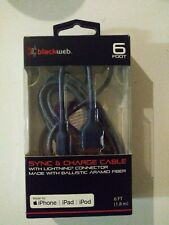 Sync & Charge cable For Iphone, IPad& Ipod 6 ft.