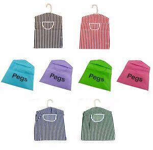 Peg Bag Clothes Line Hanger Laundry Bucket Basket Pegbag Fabric & PVC Pattern