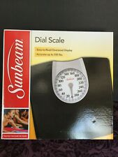 NEW IN SEALED BOX SUNBEAM SAB602-05 FULL VIEW DIAL SCALE BLACK UP TO 330 LBS