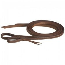 Tough 1 8' Doubled and Stitched Harness Leather Split Reins w/Waterloop ends 43-