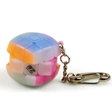 Mini Lock Keychain 30mm Rubik's Cube 3x3x3 Magic Speed Cube Transparent Puzzle