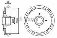 Brake Drum 203mm 43mm Fits CITROEN C2 C3 Ds3 PEUGEOT 206 208 2002-
