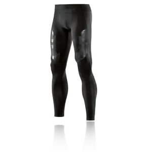 Skins Mens A400 Compression Long Tights Bottoms Pants Trousers Black Sports