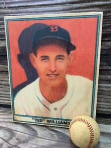 12 inch tall 41 Play Ball Ted Williams  Wooden Baseball Card ! Sports Room Decor