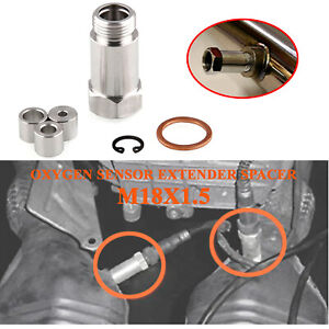 Adjustable O2 Oxygen Sensor with Adapter Extension M18X1.5 Spacer S.s. Straight