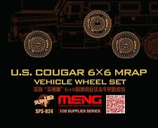 Meng Model 1:35 - US COUGAR 6x6 MRAP Wheel Set (Résine)