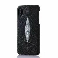 Genuine Stingray Skin Leather Back Case Cover For iPhone XS Max XR X 8 7 6 Plus
