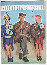 "1937  CAL BEARS (""THUNDER TEAM"")  @ STANFORD INDIANS--""BIG GAME"" PROGRAM--XLNT"