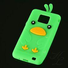 Samsung Galaxy S2 i9100 Silikon Case Schutz Hülle Etui Cover Chicken Grün