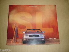 1999 Mercedes-Benz SL-class SL500 SL600 V-12 Sport sales brochure literature