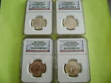 2007-08-09-10-2011-P&D NGC FIRST DAY OF ISSUE PRESIDENTIAL 38-COIN DOLLAR SET