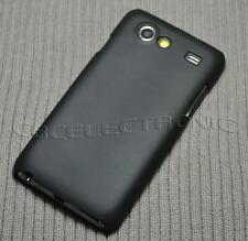 For Samsung Galaxy S Advance i9070 Black Rubberized Hard case cover