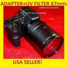 CAMERA LENS ADAPTER TUBE HX200V+UV 67mm for SONY Cyber-shot DSC-HX200V UV FILTER