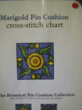 Rose/Daisy& Marigold Pin Cushion Cross Stitch Charts-55 x 55 sts Each Landmark