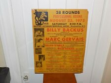Vintage Boxing Poster from 1975 Binghamton, NY