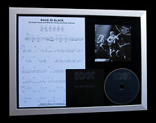 AC/DC Back In Black LIMITED GALLERY QUALITY CD FRAMED DISPLAY+FAST GLOBAL SHIP