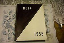 1955 University of Massachusetts Amherst MA Yearbook Index