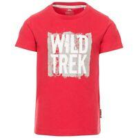 Trespass Kids Boys T-Shirt Short Sleeve Cotton Blend Summer Top 2-12 Years
