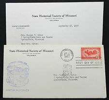 US Historical Society Cover FDC Missouri Overland Mail USA Ersttagsbrief (H-7962