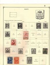 HAITI  29 stamps collection mh  and used (mb13