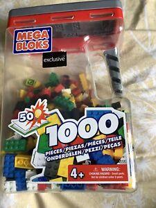 Over 500 Mega Bloks / Lego Pieces In Storage Container