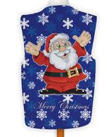 Christmas Novelty Waistcoat Fun Fancy Dress Informal Cartoon Santa Snowflake