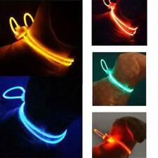 Pet Dog Cat Collar LED Night Safety Clip Tag Flashing Luminous Light  5 Colors