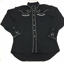 Big O Tires Rockabilly Western Car Show Shirt Mens Size XL Black